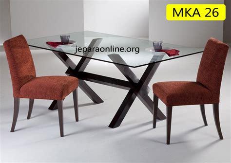 Meja Makan Kaca Kursi meja makan minimalis kaca