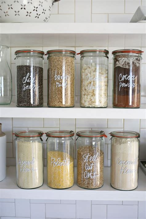 Clear Kitchen Canisters by 10 Kitchen Organization Tips