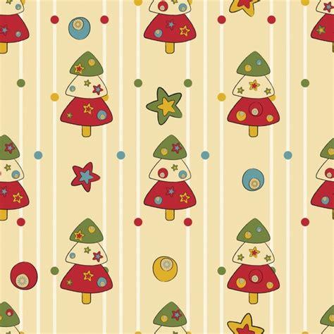 christmas tree pattern vector cartoon christmas tree pattern vector free vector in