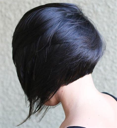 cutting your own short stacked bob a line bob style stacked haircut with back and front