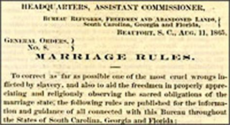 Freedmen S Bureau Marriage Records Freedmen S Bureau Marriage Records