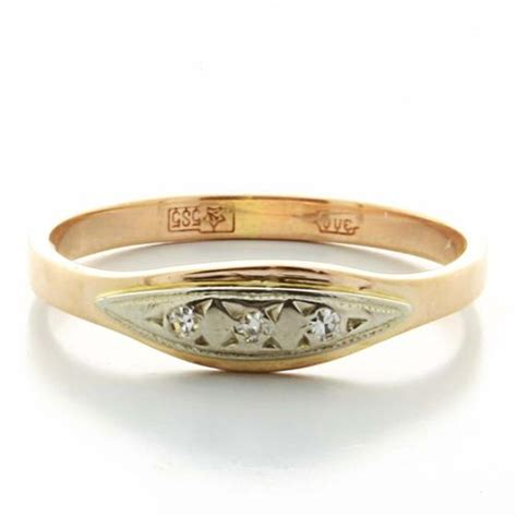 dazzling ladies vintage 14k rose gold diamond russian