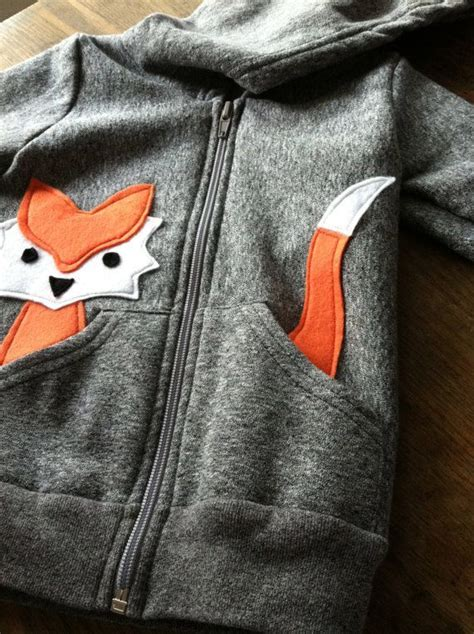 Fox Applique Print Hoodie inspiration children s fox hoodie take a plain