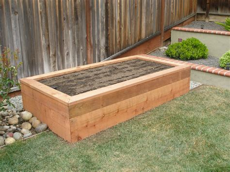 Raised Planters Box by Raised Redwood Planter Box Yelp