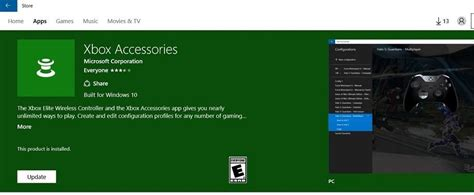 install windows 10 xbox app xbox accessories app for windows 10 gets its first update