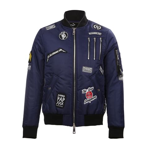 Jaket Bomber Pria Patch Jaket Bomber 8 cooper patch bomber jacket navy s the new designers touch of modern