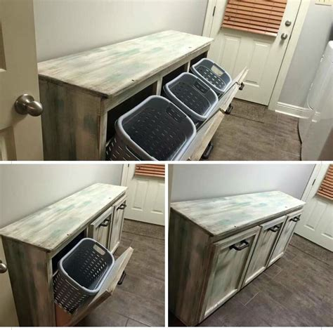 laundry table use top for folding laundry and ironing bottom bins for