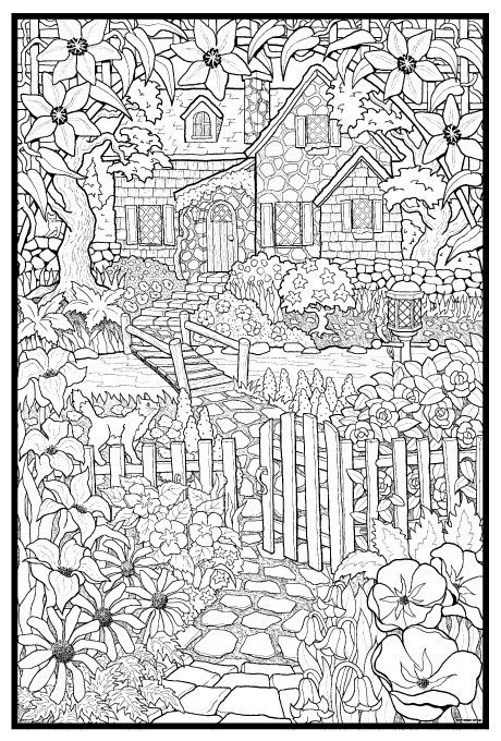 giant coloring pages for adults giant coloring posters hidden cottage line art