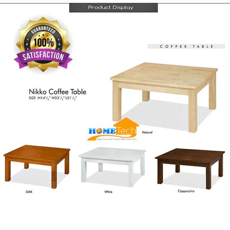 Simple Wooden Coffee Table Uhome Simple Wooden Square Living Room Coffee Table 11street Malaysia Tables
