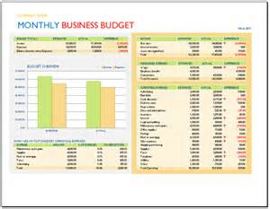 Monthly Operating Budget Template Monthly Business Budget Template Budget Templates