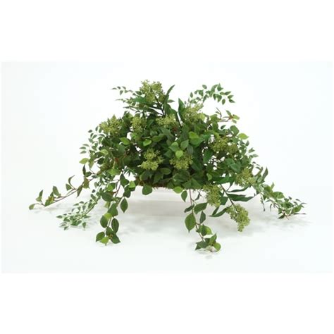 artistic greenery buy quality artificial flowers trees silk greenery arrangement on plant topper free shipping