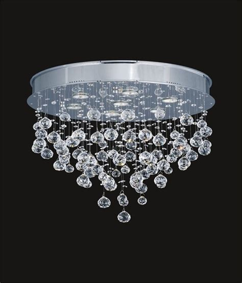 Raindrop Swarovski Crystal Modern Ceiling Mount Chandelier Raindrop Chandelier Crystals