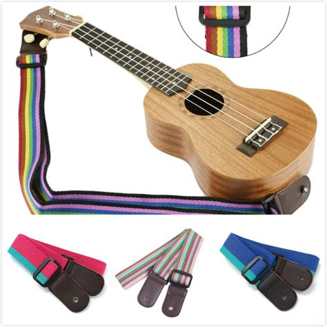 colorful ukulele ukulele belt colorful print denim adjustable for