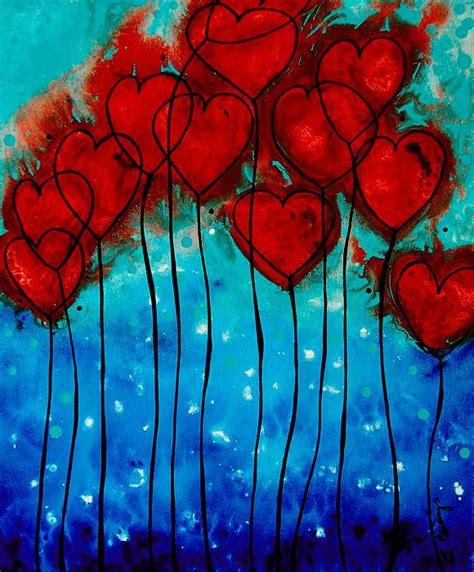 valentines painting mhsartgallerymac hearts