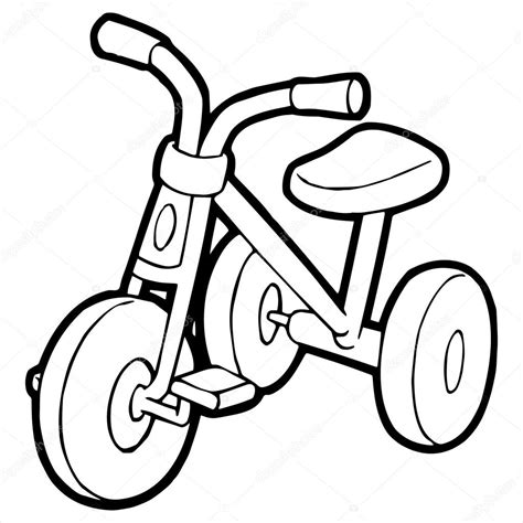 tricycle cartoon tricycle cartoon illustration isolated on white stock