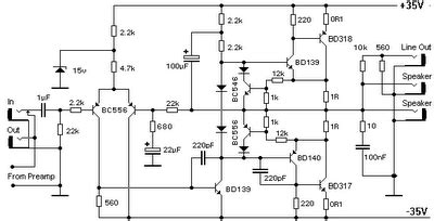 transistor bd140 working can somone suggest me a power lifier circuit using bd 139 transistor