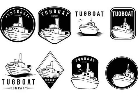 tugboat vector t 233 l 233 chargement du vecteur gratuit tugboat badge set
