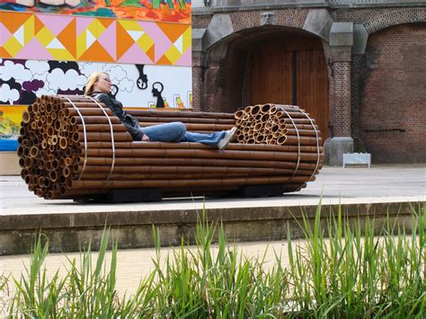 cool bench ideas diy bamboo bench idea