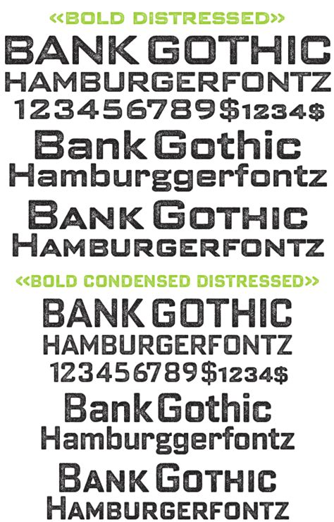 bank font bank bold pro distressed package 2 fonts fonts