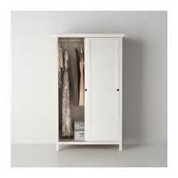 hemnes wardrobe with 2 sliding doors white stain 120x197