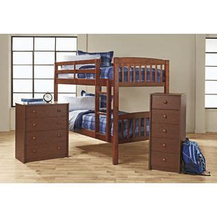 bunk beds kmart essential home belmont walnut bunk bed two beds in one