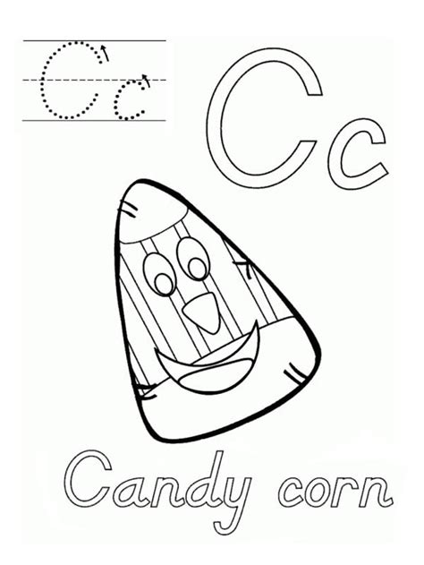 candy corn coloring page coloring home
