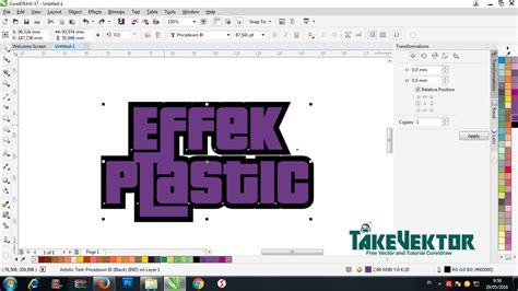 tutorial vector dengan corel draw cara membuat effect plastic pada objek teks dengan