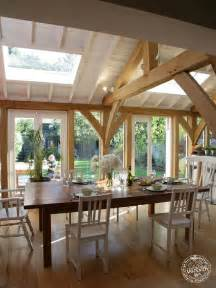 Dining Room Framed Green Oak Framed Extension Dining Room Interior By