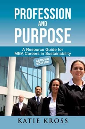 Sustainable Mba Book by Bookstore Environmentalcareer