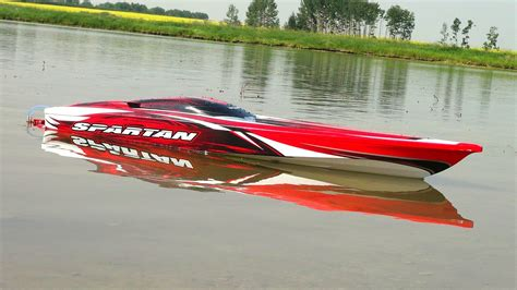 rc gas boat pics rc adventures traxxas spartan first run 4s lipo
