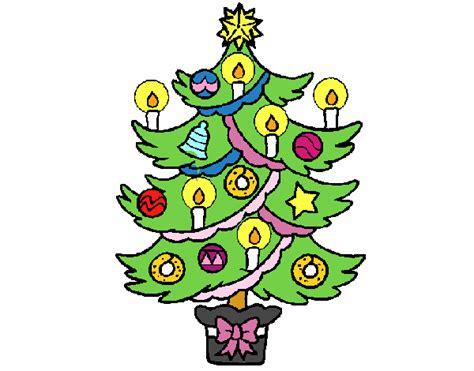 dibujo de 193 rbol de navidad con velas pintado por en