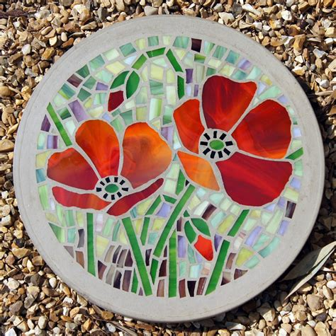 Backyard Stones Creating Mosaic Stepping Stones In Your Garden