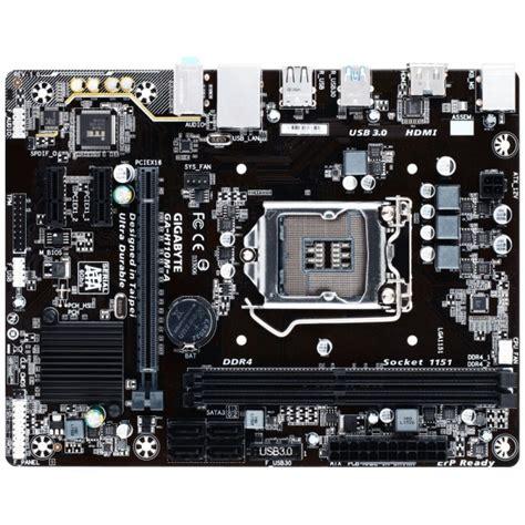 Mainboard Gigabyte Ga H110m H Micro Atx Lga 1151 1 gigabyte ga h110m a micro atx motherboard socket lga 1151 intel h110 chipset ddr4 2133