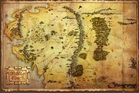 hobbit middle earth map poster sold  europosters