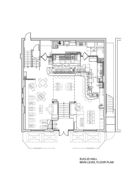 bar floor plan design euclid hall bar kitchen semple brown architects