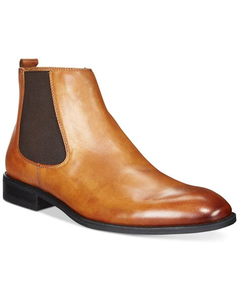 mens alfani boots alfani s caleb chelsea boots in brown for