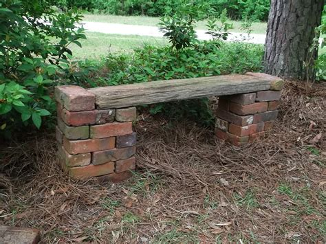 brick bench diy secrets of a seed scatterer do over daylilies and a bench
