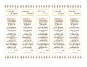 gallery for gt printable serenity prayer bookmark