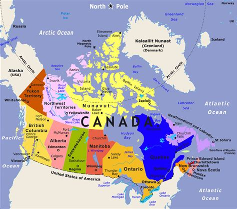 canadian map of provinces and territories 3 4e canada