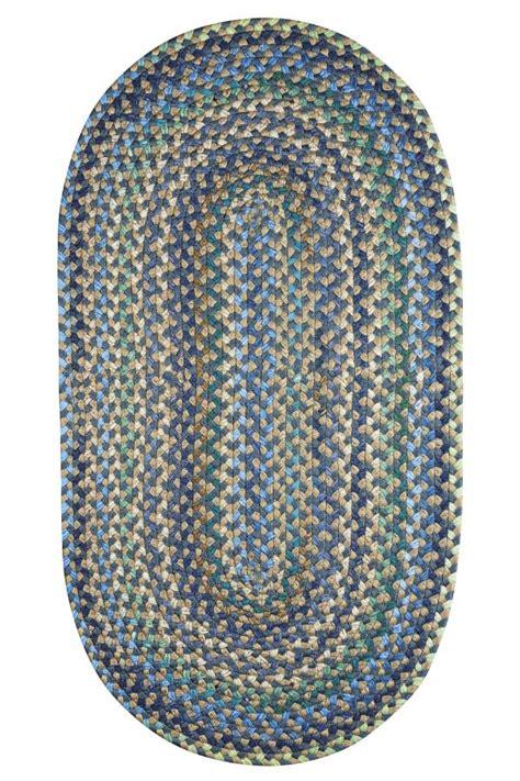blue braided rugs pristene blue braided indoor outdoor rug cottage home 174