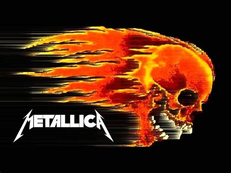 Metallica Skull free size flaming skull metallica wallpaper