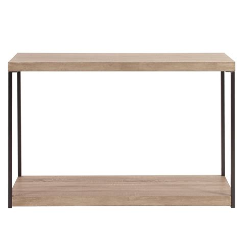 wood and metal console table wood metal console table