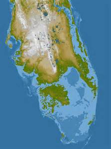 elevation map of florida elevation of southern florida image of the day