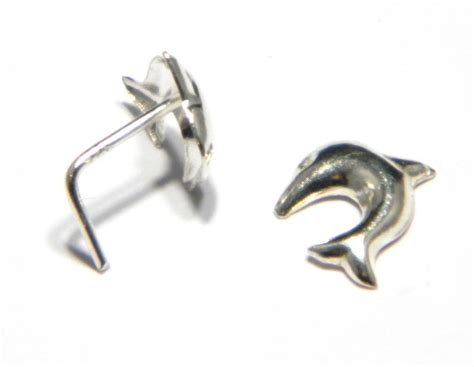 Sterling Silver Dolphin Studs 925 solid sterling silver dolphin nose stud ebay