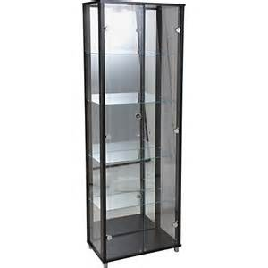Black Display Cabinets With Glass Doors Uk Glass Door Display Cabinet Black
