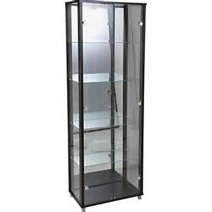 Display Cabinet Homebase Glass Door Display Cabinet Black