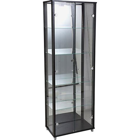 Black Glass Door Cabinet Glass Door Display Cabinet Black