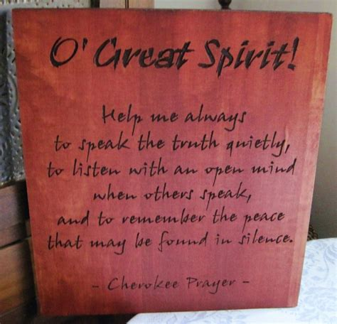 Native American Home Decor by Hand Crafted Handmade Wood Carved Cherokee Prayer Native