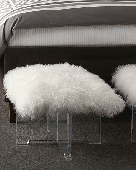 sheepskin bench jonathan adler sheepskin bench