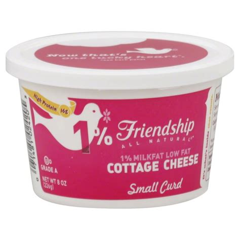 low cottage cheese nutrition friendship cottage cheese low small curd 1 milkfat